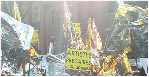 Art En Grève Occitanie - EAGO, manifestation Toulouse
